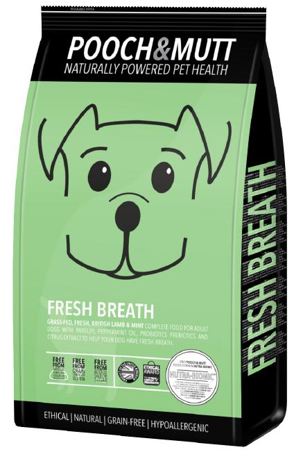Speciaal hondenvoer Fresh Breath van POOCH and MUTT  1 stuk