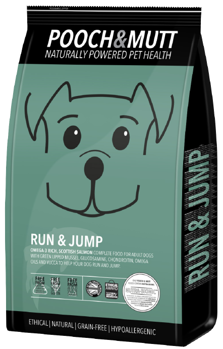 Speciaal hondenvoer Run and Jump van POOCH and MUTT  1 stuk
